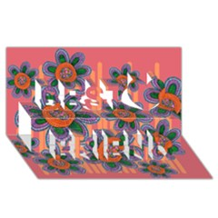 Colorful Floral Dream Best Friends 3d Greeting Card (8x4)