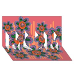 Colorful Floral Dream Mom 3d Greeting Card (8x4)