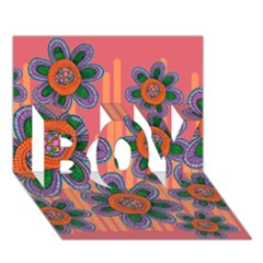 Colorful Floral Dream Boy 3d Greeting Card (7x5)