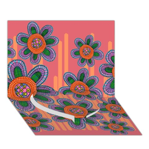Colorful Floral Dream Heart Bottom 3D Greeting Card (7x5)