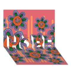 Colorful Floral Dream Hope 3d Greeting Card (7x5)