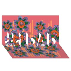 Colorful Floral Dream #1 Dad 3d Greeting Card (8x4)