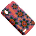 Colorful Floral Dream HTC Desire V (T328W) Hardshell Case View5