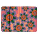 Colorful Floral Dream Samsung Galaxy Tab 10.1  P7500 Flip Case View1