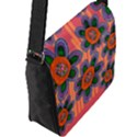 Colorful Floral Dream Flap Messenger Bag (L)  View2