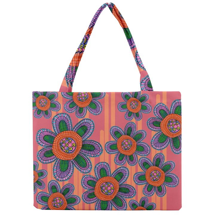 Colorful Floral Dream Mini Tote Bag