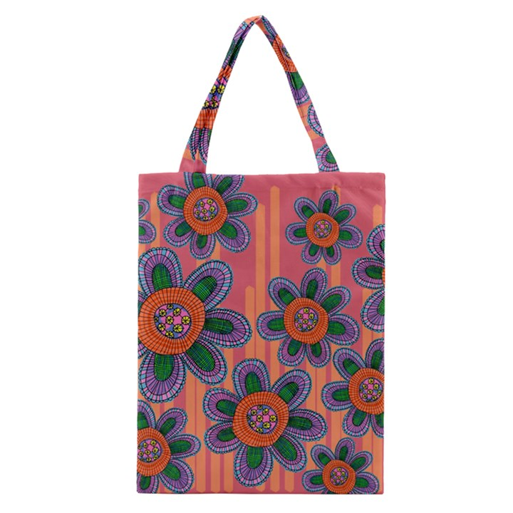 Colorful Floral Dream Classic Tote Bag