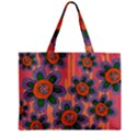Colorful Floral Dream Zipper Mini Tote Bag View1