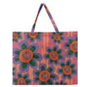 Colorful Floral Dream Zipper Large Tote Bag View1