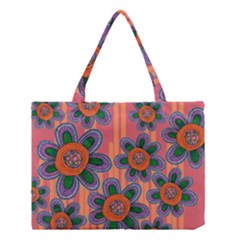 Colorful Floral Dream Medium Tote Bag