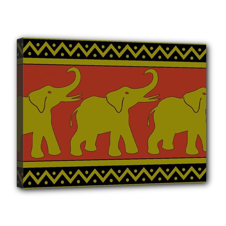 Elephant Pattern Canvas 16  x 12