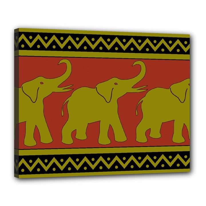 Elephant Pattern Canvas 20  x 16
