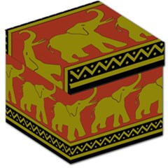 Elephant Pattern Storage Stool 12