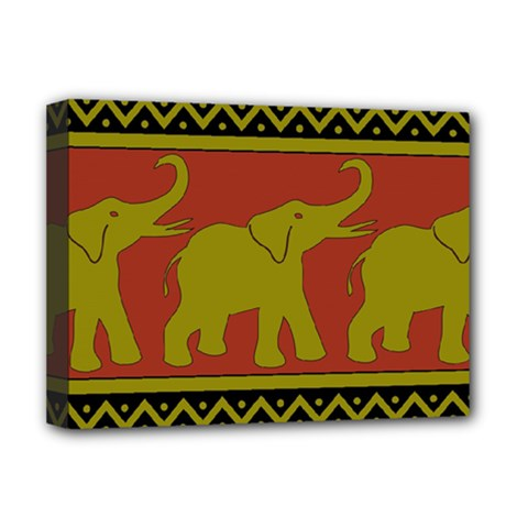 Elephant Pattern Deluxe Canvas 16  x 12