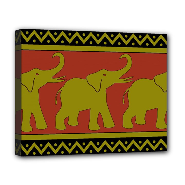Elephant Pattern Deluxe Canvas 20  x 16