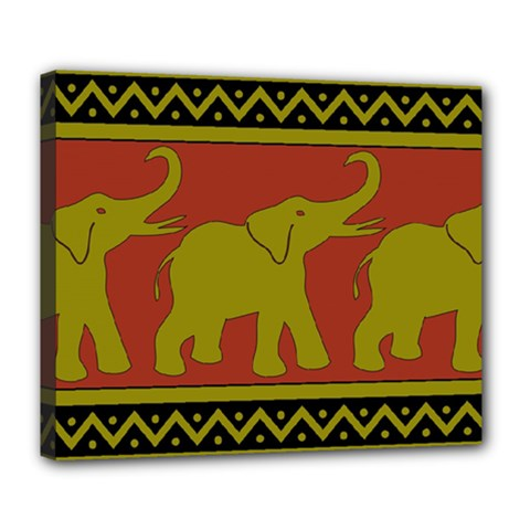Elephant Pattern Deluxe Canvas 24  x 20