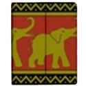 Elephant Pattern Apple iPad 2 Flip Case View1