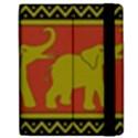 Elephant Pattern Apple iPad 2 Flip Case View2
