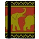 Elephant Pattern Apple iPad 2 Flip Case View3