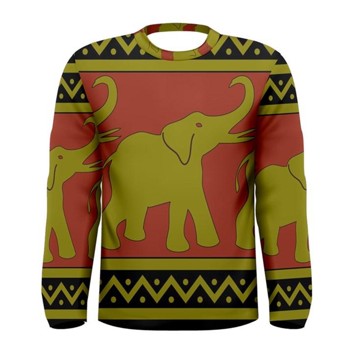 Elephant Pattern Men s Long Sleeve Tee