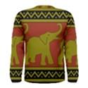 Elephant Pattern Men s Long Sleeve Tee View2