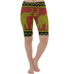 Elephant Pattern Cropped Leggings