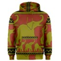Elephant Pattern Men s Pullover Hoodie View1