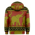 Elephant Pattern Men s Pullover Hoodie View2