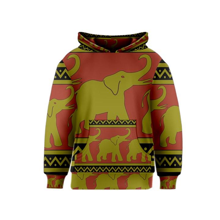 Elephant Pattern Kids  Pullover Hoodie