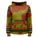 Elephant Pattern Women s Pullover Hoodie View1