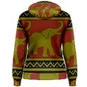 Elephant Pattern Women s Pullover Hoodie View2