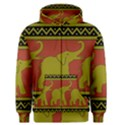 Elephant Pattern Men s Zipper Hoodie View1