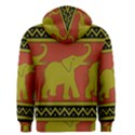 Elephant Pattern Men s Zipper Hoodie View2