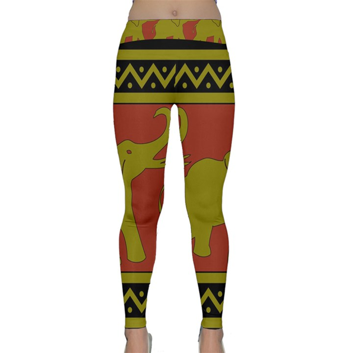 Elephant Pattern Yoga Leggings