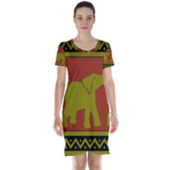 Elephant Pattern Short Sleeve Nightdress