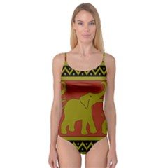 Elephant Pattern Camisole Leotard