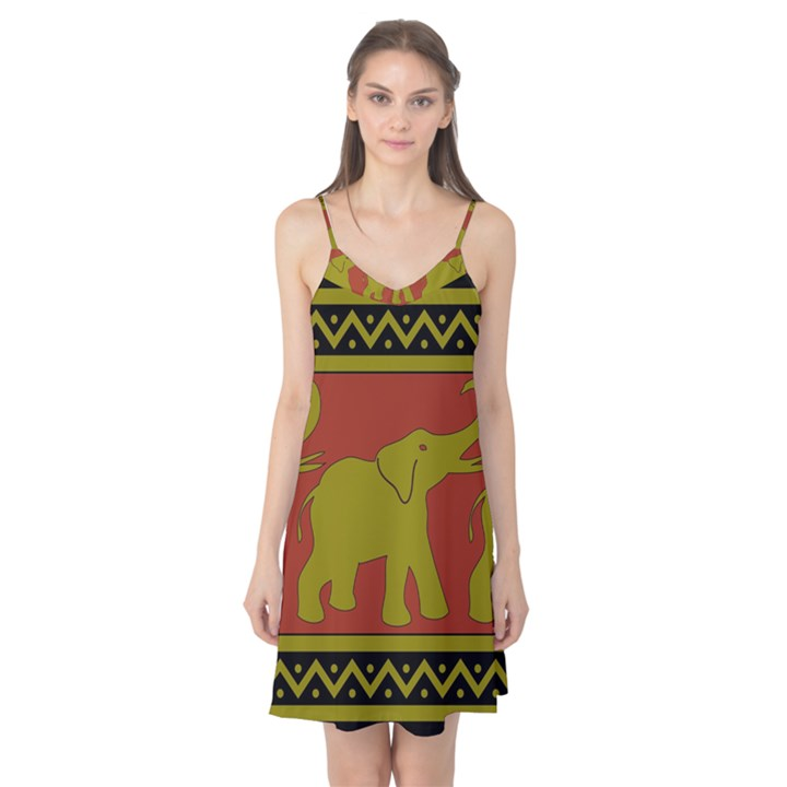 Elephant Pattern Camis Nightgown