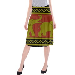 Elephant Pattern Midi Beach Skirt