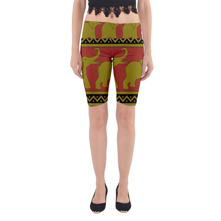 Elephant Pattern Yoga Cropped Leggings