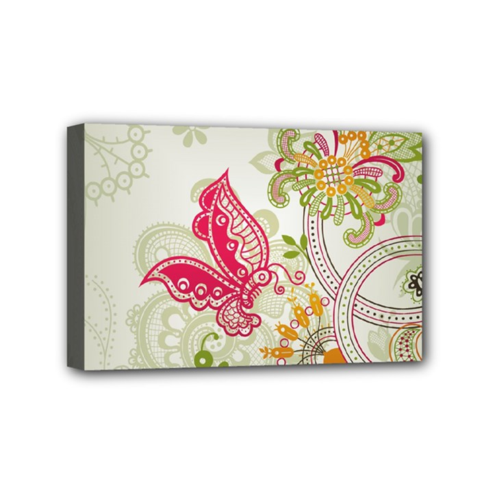 Floral Pattern Background Mini Canvas 6  x 4