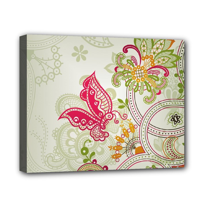 Floral Pattern Background Canvas 10  x 8