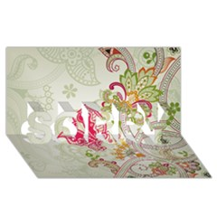 Floral Pattern Background SORRY 3D Greeting Card (8x4)