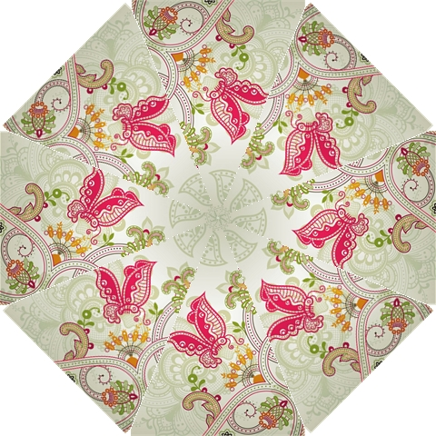 Floral Pattern Background Hook Handle Umbrellas (Small)