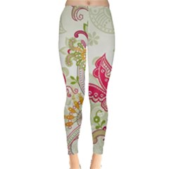 Floral Pattern Background Leggings