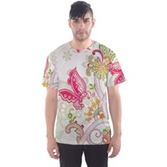 Floral Pattern Background Men s Sport Mesh Tee