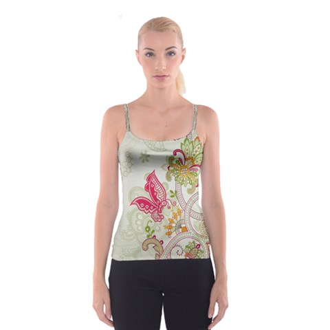 Floral Pattern Background Spaghetti Strap Top