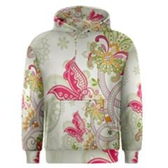 Floral Pattern Background Men s Pullover Hoodie