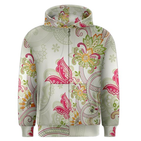 Floral Pattern Background Men s Zipper Hoodie