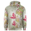 Floral Pattern Background Men s Zipper Hoodie View1