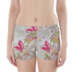Floral Pattern Background Boyleg Bikini Wrap Bottoms